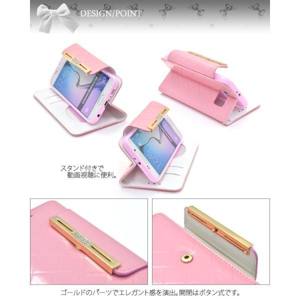 Galaxy S6 SC-05G ケース 手帳型 合皮レザー ギャラクシーS6 スマホカバー|n-style|02
