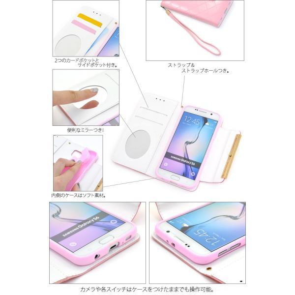 Galaxy S6 SC-05G ケース 手帳型 合皮レザー ギャラクシーS6 スマホカバー|n-style|03