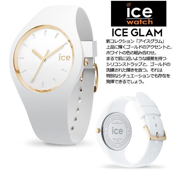 腕時計 アイスウォッチ ICE-WATCH ICE glam ホワイト スモール 3H レディース n-style 02