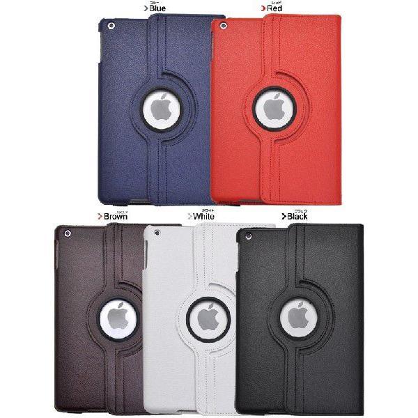 iPad Air 手帳型ケース レザー調 回転式スタンド付 カラバリ5色 n-style 03
