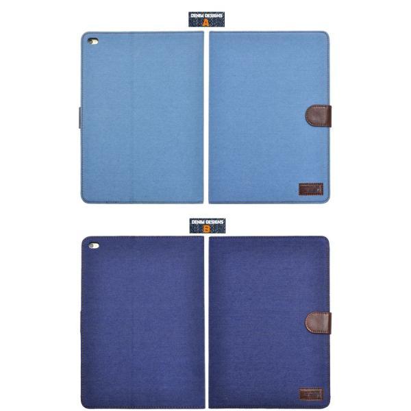 iPad Air 2 ケース 手帳型 デニム調 ジーンズデザイン アイパッドエアーケース |n-style|03