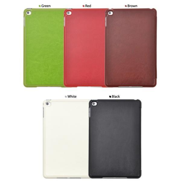 iPad mini4 専用ケース 手帳型 合皮レザー Y字スタンド付 アイパッドミニ4用保護ケース n-style 04
