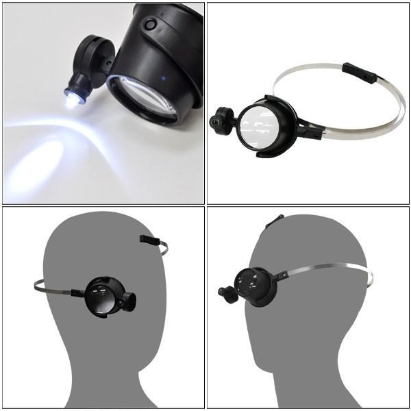 作業用ヘッドルーペ 5倍 LEDライト付き 拡大鏡|n-style|02
