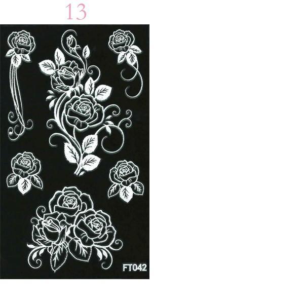 デコシート(ホワイト/白) スマホ用デコシール13×7.8cm タトゥー柄 13種類 n-style 06