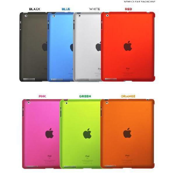 iPad2 セミクリアカラーケース 選べる7色|n-style