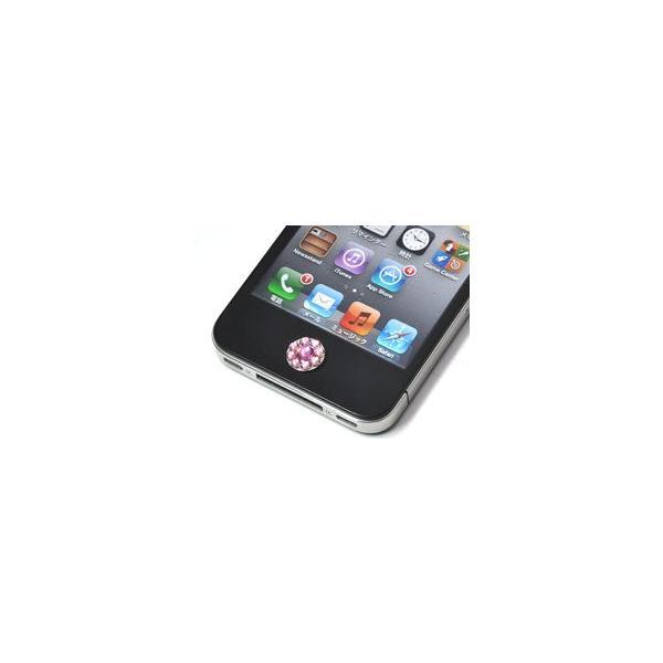 iPhone/iPod touch/iPad用 フラワー ホームボタンデコシール|n-style|02