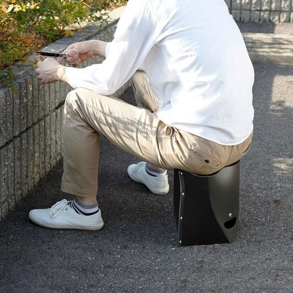 SOLCION 折りたたみ椅子 パタット250 PATATTO250 ネイビー 高さ25cm PT2503 ソルシオン n-tools 11