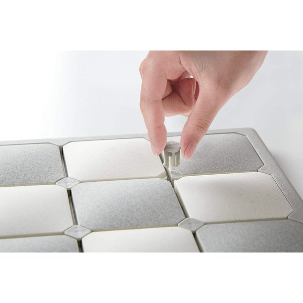 Karari 珪藻土 フィットタイル バスマット Lサイズ グレー HO1915 アネスティ n-tools 02