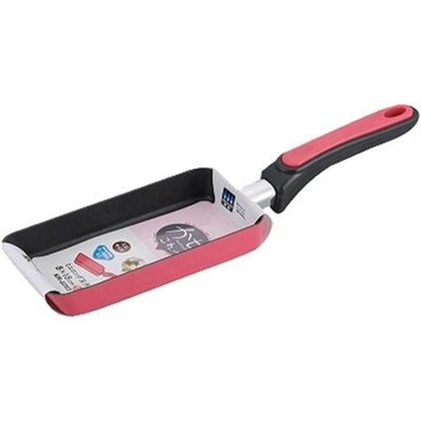 リプレ ミニロング玉子焼き ガスコンロ専用 8×18cm チェリーレッド KR-8263 和平フレイズ|n-tools