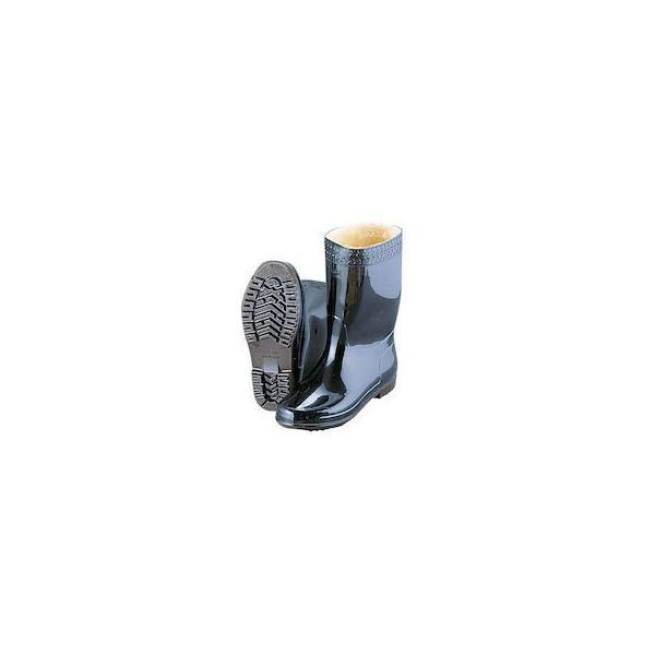 弘進 防寒ゾナネオ耐油長靴P 黒 24cm (ウレタンパイルボア裏) n-tools
