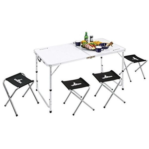 キャプテンスタッグ(CAPTAIN STAG) BBQ用 机 椅子 ラフォーレ テーブル チェア セット 4人用 UC-4|n-tools