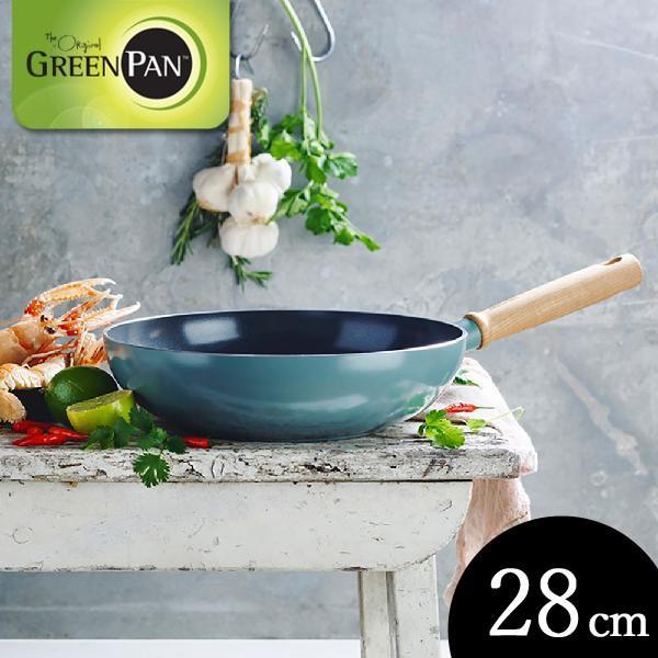 グリーンパン メイフラワー ウォックパン 28cm CC001904-001 GREENPAN n-tools