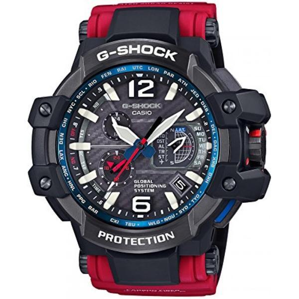 カシオ メンズウォッチ 腕時計 G-shock Casio G-Shock Gravitymaster Black Dial Red Resin Quartz Men's Watch GPW1000RD-4A|n2m-store