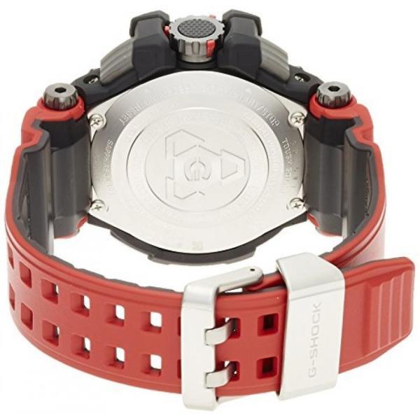 カシオ メンズウォッチ 腕時計 G-shock Casio G-Shock Gravitymaster Black Dial Red Resin Quartz Men's Watch GPW1000RD-4A|n2m-store|04
