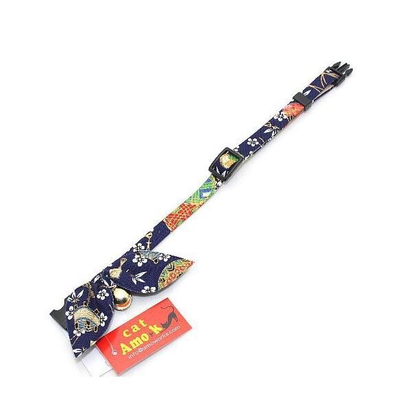 アモワークス 毬りぼんカラー レッド:M 猫用首輪 Amo.k nachu