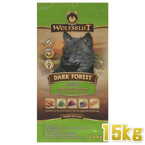 最短賞味2020.8.21・ウルフブラット ダークフォレスト 大袋 15kg 成犬用ドライ 穀物不使用 グレインフリー ドッグフード WOLFSBLUT 正規品|nachu