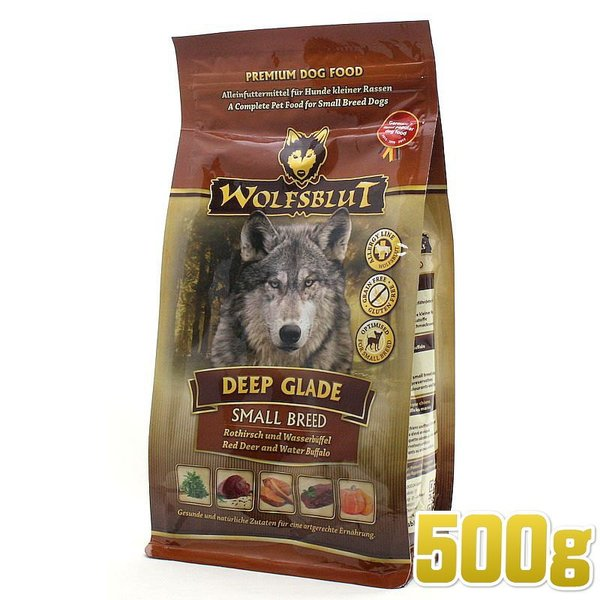 NEW 最短賞味2020.9.10・ウルフブラット ディープグレード・SB 500g 小型犬用小粒ドッグフード WOLFSBLUT 正規品 wb66120|nachu