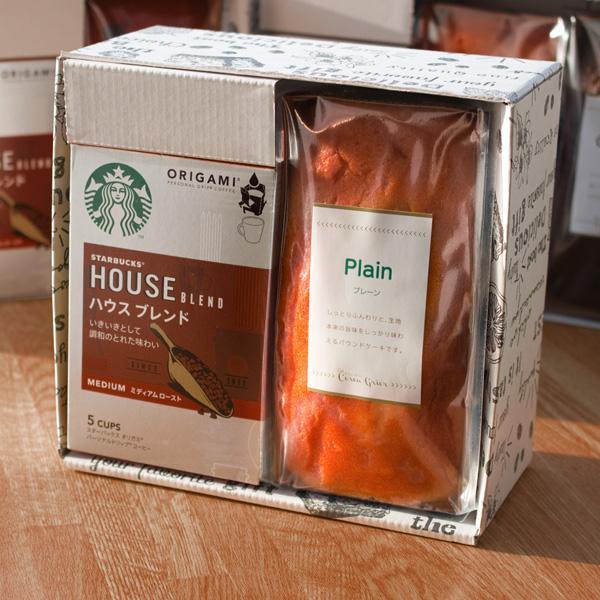 ギフトプレゼントコーヒースイーツスターバックスコーヒー×クリエグリエ選べる金澤窯出しパウンドケーキギフト2個セットスタバ内祝い贈
