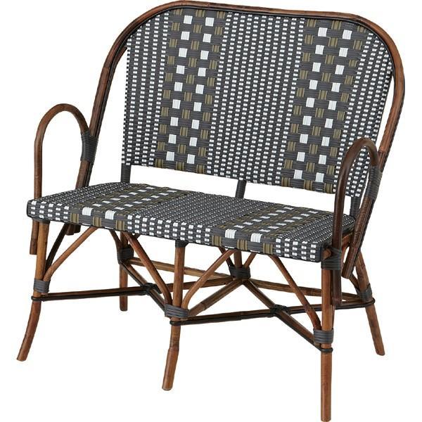 メーカー直送 トルプ 二人掛けチェア グレー 幅90cm ラタン 椅子 イス いす ソファー ベンチ アジアン リゾート ガーデン おしゃれ 人気 おすすめ