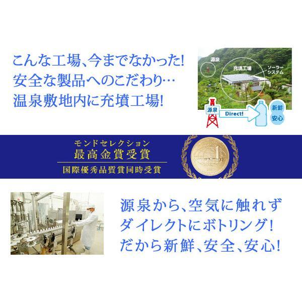 観音温泉水 350ml×30本入り(1ケース) ミネラルウォーター ペットボトル 飲む温泉 シリカ水 天然水|nacole|05