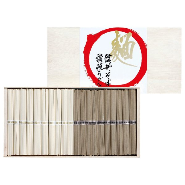 【まとめ買い10セット】讃岐饂飩(讃岐うどん) 信州蕎麦(信州そば)詰合せ KUS-30(麺類)