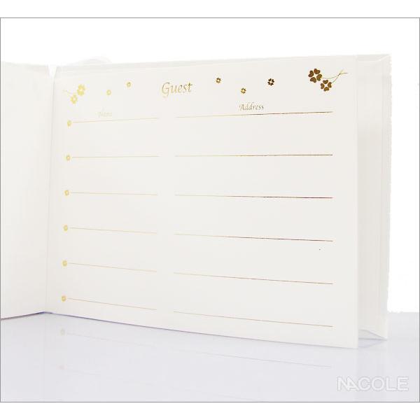 結婚式 ゲストブック 芳名帳 結婚内祝い 出産内祝い 贈答品 贈り物 お返し|nacole|04