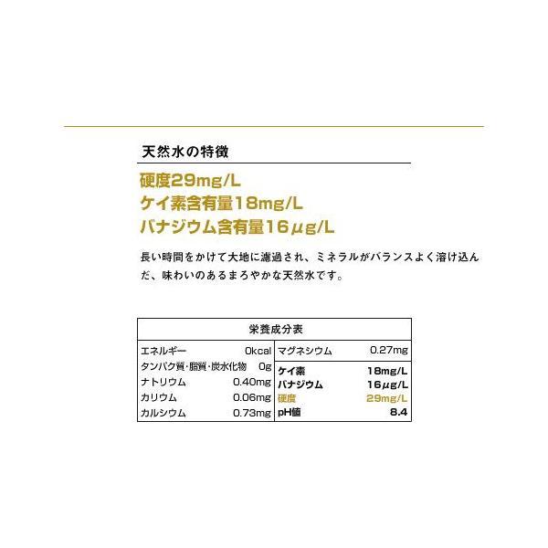 伊豆の天然水29 2L×6本 1ケース プレミアム天然水 国産ミネラルウォーター|nacole|02