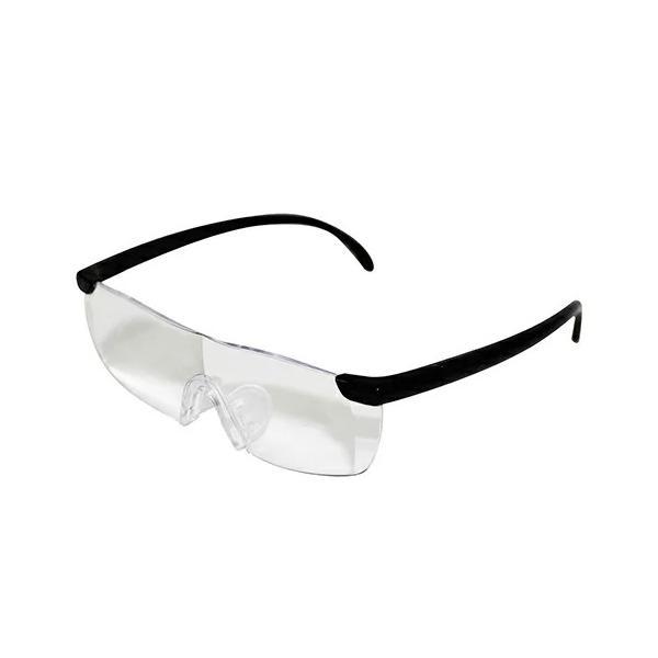 MIKI LOCOS 拡大鏡 ルーペメガネ M-27 【メガネ 眼鏡 メガネ型ルーペ 拡大率 1.6倍 薄い 軽い 男女兼用 クリアレンズ ポーチ クロス ストラップ 付き】