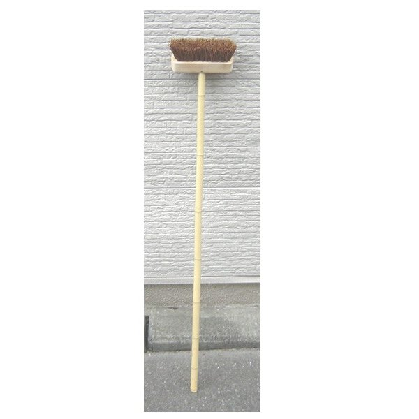 シダ製 デッキブラシ (竹柄) (5本単位で別途送料必要)