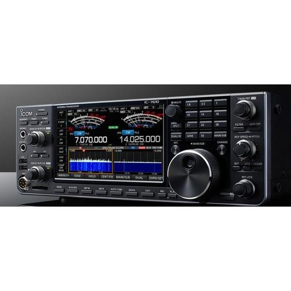 IC-7610 アイコム  デュアルワッチのHF/50MHz100W