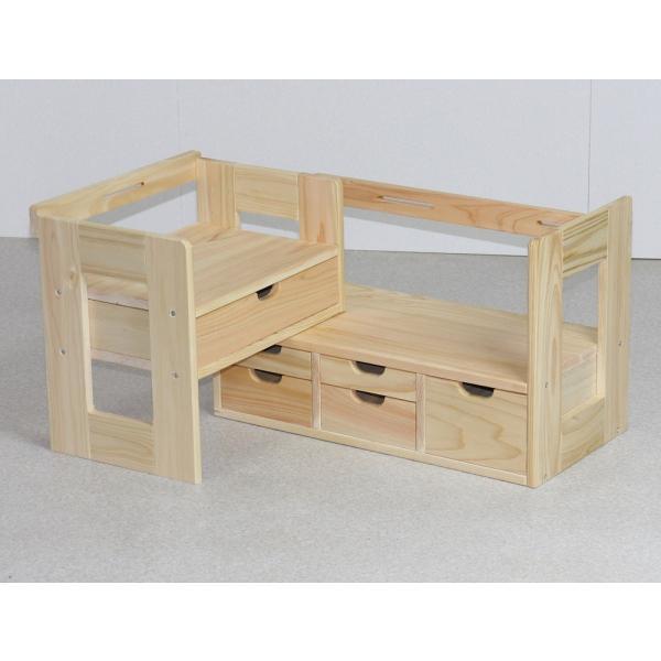 日本製 ひのきスライド本立て小物入れ 45-72cm幅|naganoscom|05