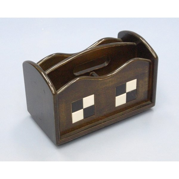 リモコンラック めがね 眼鏡 スタンド 多機能収納ボックス 木製リモコンラック タイル貼り 卓上 机上