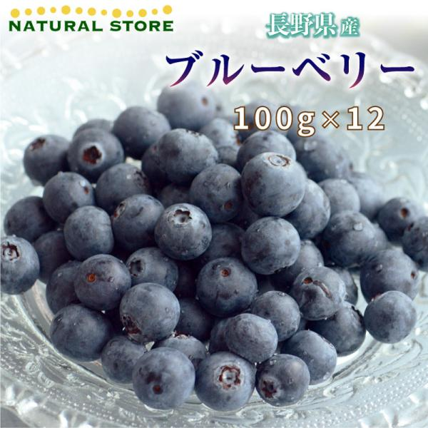 ブルーベリー 100g×12 長野県産 果物 フルーツ ギフト 通販 甘い 果実専用箱 100g×12p [最短順次発送]