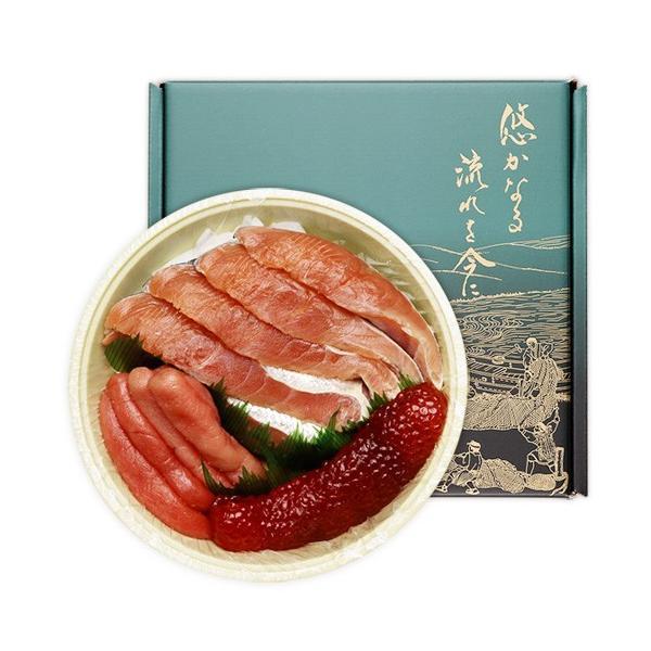 新潟村上 三色粕漬 樽詰 (秋鮭切身・たらこ粕漬・筋子粕漬)