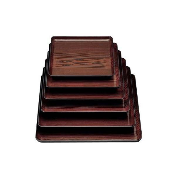 角盆 漆木目 15006100 9寸(運賃別途お見積り)(メーカー直送 代引き不可)