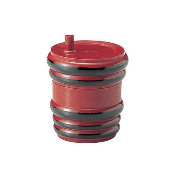 ABS製 樽型 七味入 朱黒ヒモ 82160010