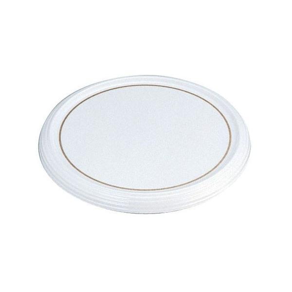 陶器風メラミン製 ケーキトレー丸型 CT−3000−WS(金線入)