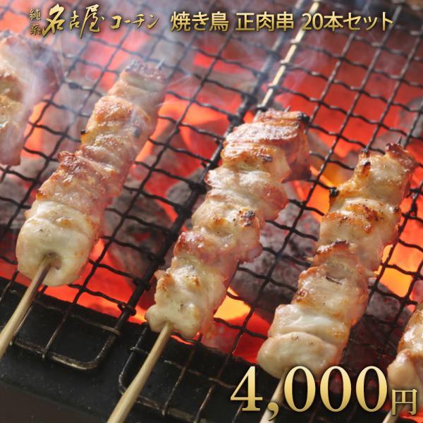お中元 御中元 2021 父の日 プレゼント 内祝い お礼 御礼 お祝 やきとり 肉 地鶏 ギフト 純系 名古屋コーチン 焼き鳥 20本セット 送料無料 コロナ 応援