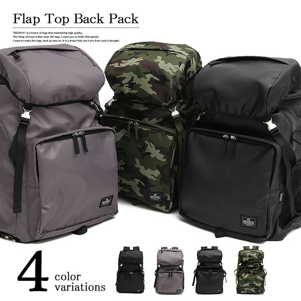 7afc2bf570a2 (Nail39セレクト) フラップトップバックパック リュック メンズ 大容量 リュックサック ブランド 黒 ...