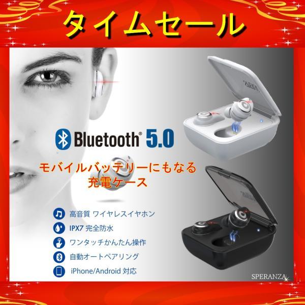 ワイヤレスイヤホン イヤホン bluetooth ブルートゥース 5.0 完全ワイヤレス 高音質 IPX7 完全防水  自動ペアリング iPhone Android 対応|nail39