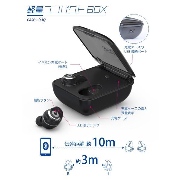ワイヤレスイヤホン イヤホン bluetooth ブルートゥース 5.0 完全ワイヤレス 高音質 IPX7 完全防水  自動ペアリング iPhone Android 対応|nail39|12