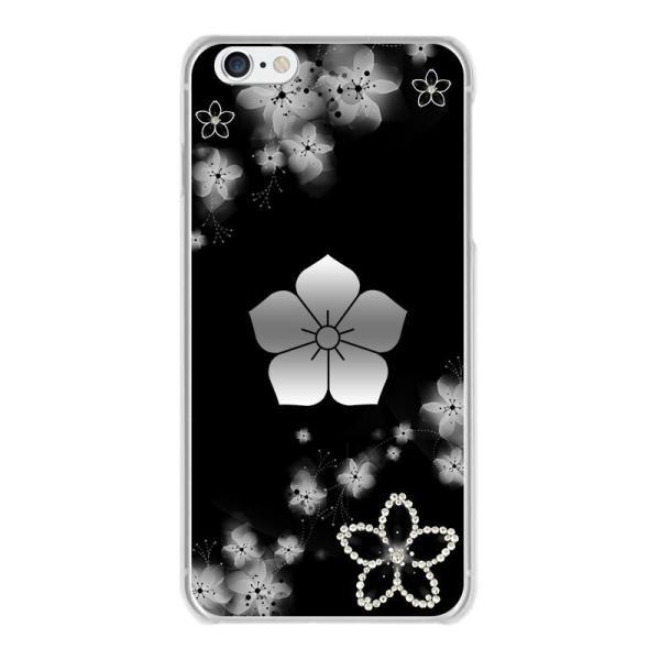 253b69132a スマホケース 全機種対応【明智光秀 桔梗紋 桜吹雪デコに家紋】iPhoneX/8 ...