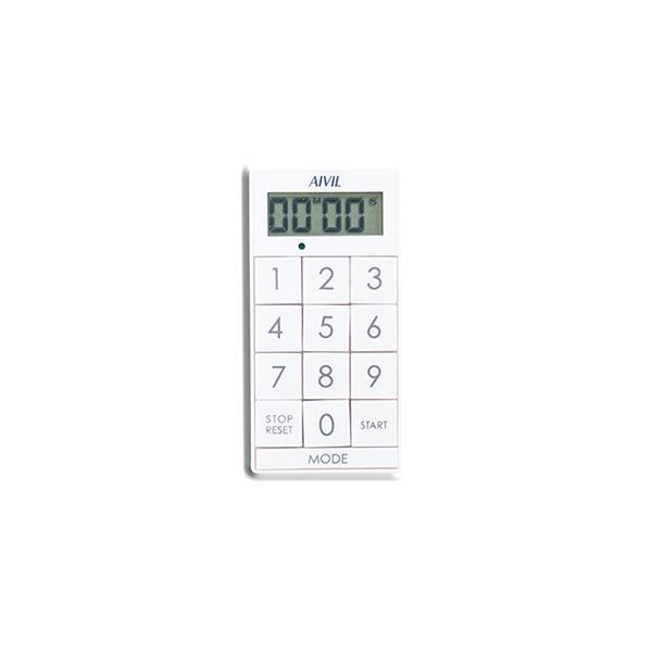 【メール便OK】 ネイルツール タイマー アイビル デジタルタイマー スリムキューブ Z-430WT ホワイト