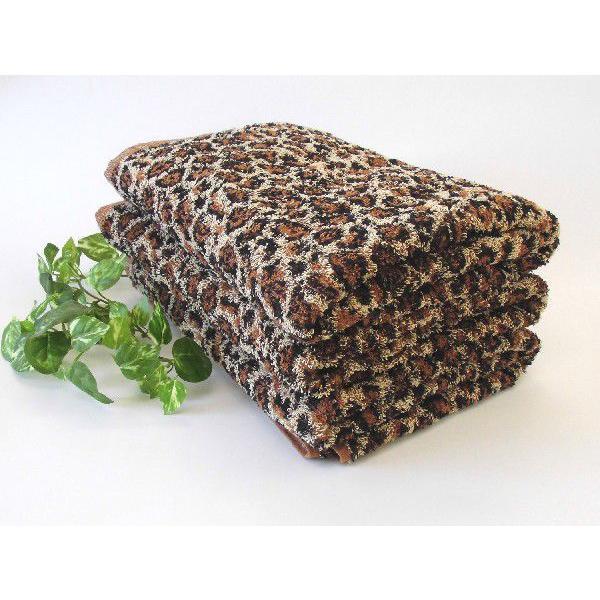 ジャガード織りひょう柄バスタオル2枚セット ヒョウ柄/豹柄|naire-donya|02