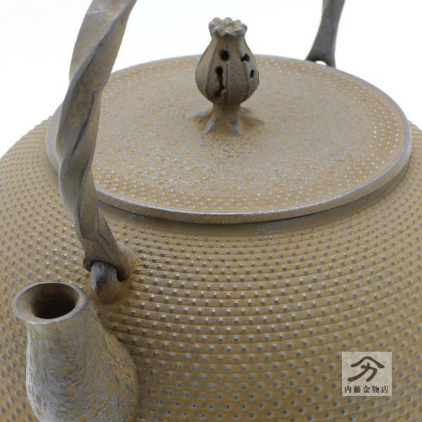 岩鋳 南部鉄器 鉄瓶 18型千鳥型アラレ1.8L|naitokanamono|02
