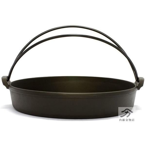 岩鋳 南部鉄器すき焼き鍋 28cm 日本製|naitokanamono