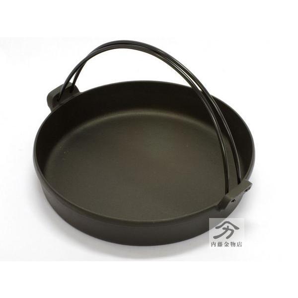 岩鋳 南部鉄器すき焼き鍋 28cm 日本製|naitokanamono|02