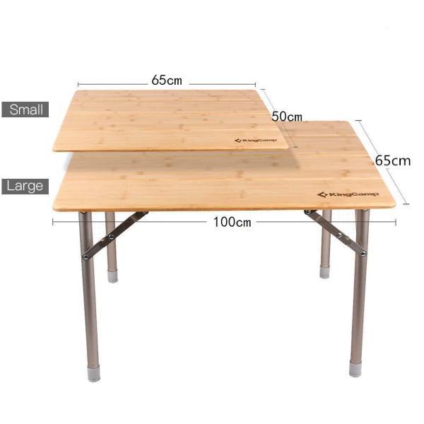 KingCamp (キングキャンプ) アウトドアロールテーブル キャンプ  65*50cm 4折り 竹製 高さ調整可能|naivecanvas|05