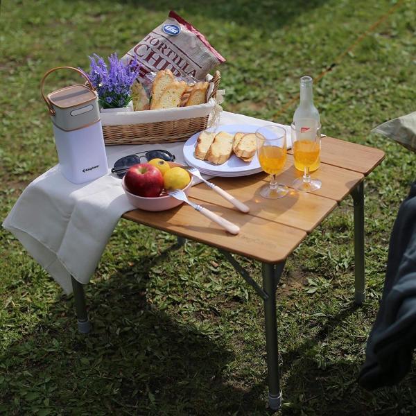 KingCamp (キングキャンプ) アウトドアロールテーブル キャンプ  65*50cm 4折り 竹製 高さ調整可能|naivecanvas|08