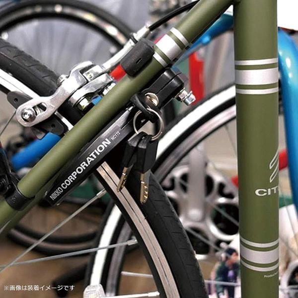 ニッコー(NIKKO) 自転車 リング錠 NC172 リングロック V/キャリパーブレーキ対応 ブラック 0680013|naivecanvas|03
